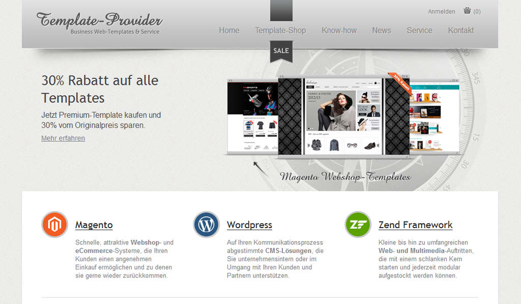 Template Provider Screenshot