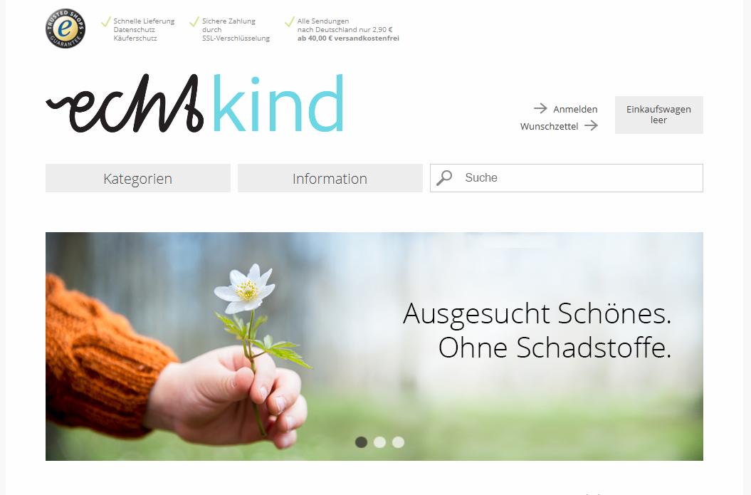 Beste Produktpräsentation: Echtkind.de