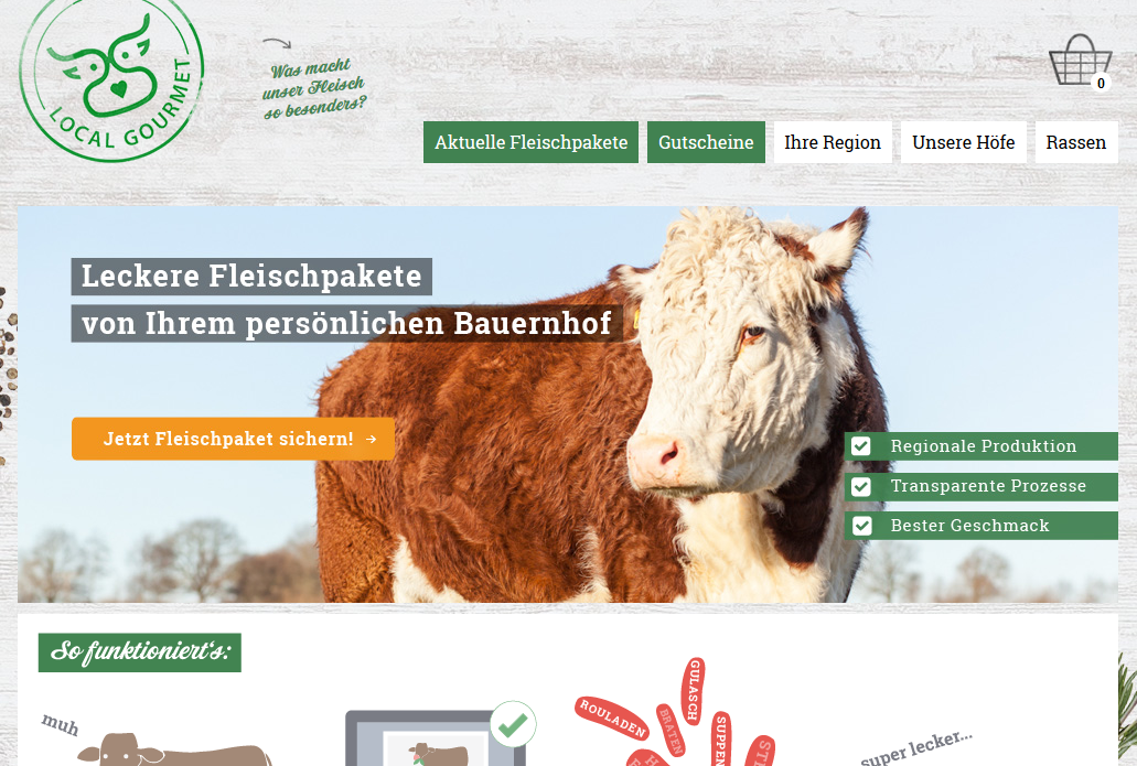 Innovativstes Geschäftsmodell: Localgourmet.de